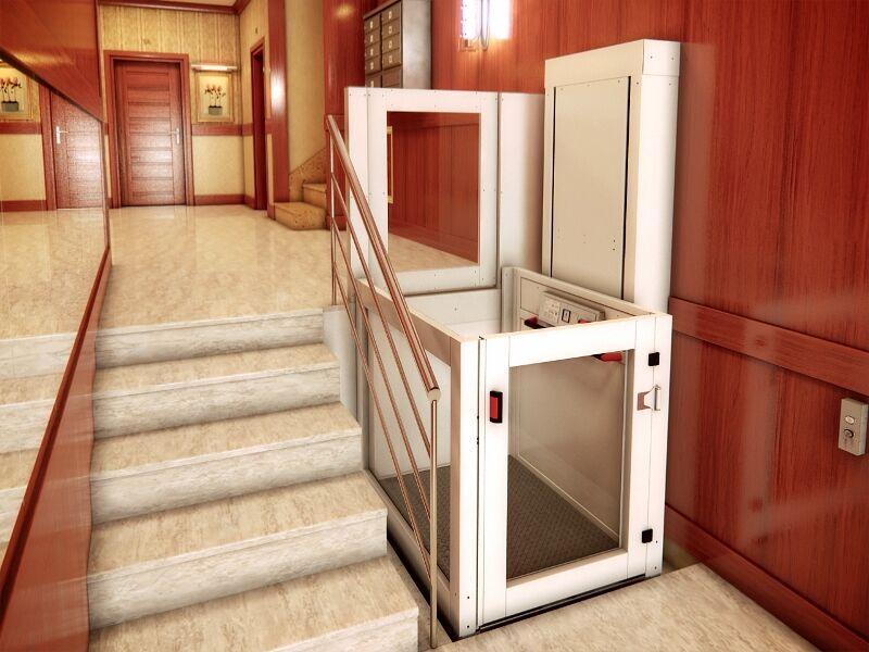 Salva escalera vertical eleser sv equipos para for Escalera discapacitados